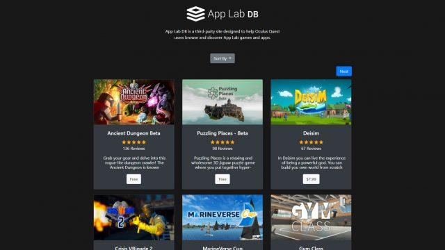 App Lab半年上线应用程序超500款,接近Quest官方商店的2倍