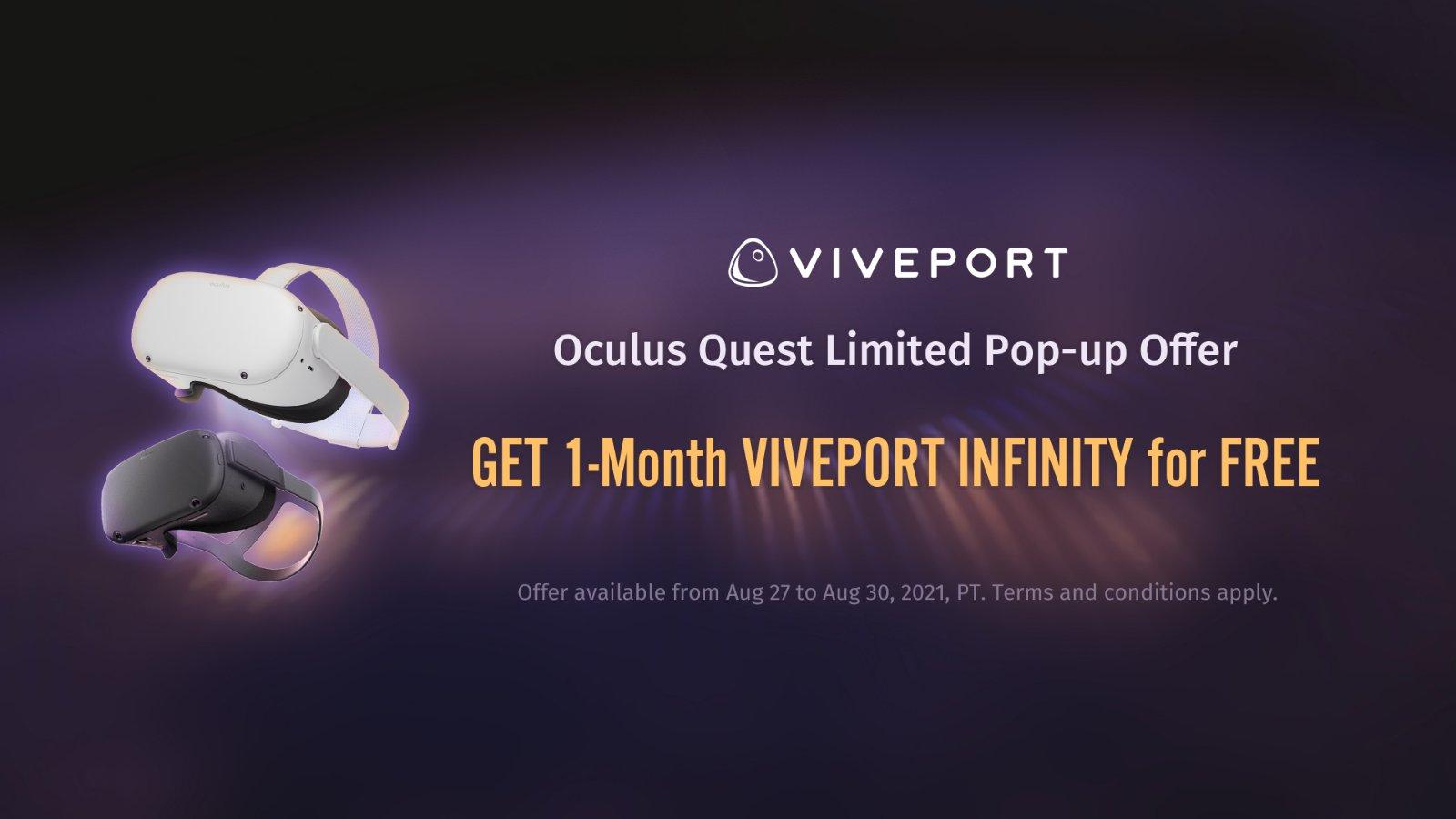 Quest 免费玩VIVEPORT 千款游戏