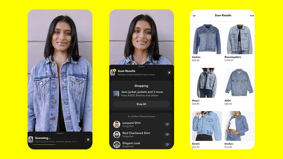 Snapchat 升级Scan功能:可进行相似物体的扫描识别,并且提供购物功能