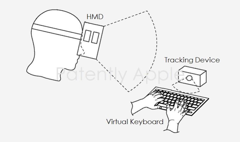 苹果新专利:未来HMD可搭配虚拟键盘及Apple Pencil使用