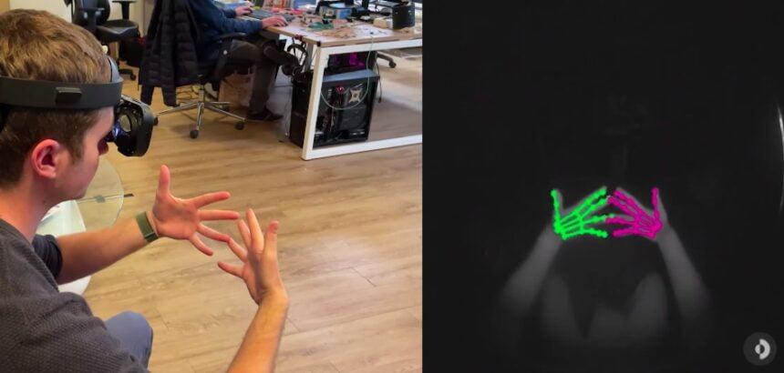 法国VR初创公司Lynx发布MR头显Lynx R-1的手部追踪效果视频