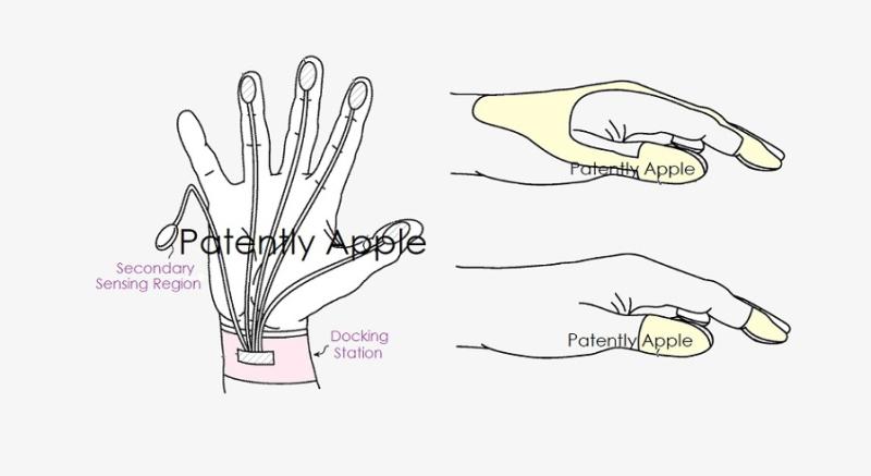 苹果新专利:搭配VR设备使用的可穿戴输入设备,或将采用手套、柔性织物或指环等形式